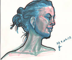 Life Drawing - Portrait by Juandfr