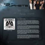 Lost Prophets Fan Website by Nova-Designs