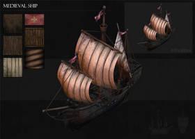 Medieval Ship by BoChicoine