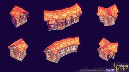 Fantasy Lands - medieval houses 2 by Tarko3d