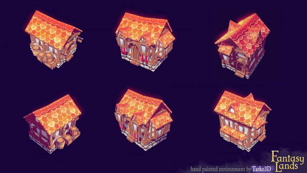 Fantasy Lands - medieval houses 4 by Tarko3d