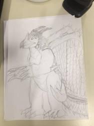 Original Kaiju: Borokyrah (WIP) by TyrantGojira
