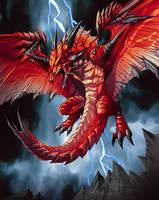 dragon demonio in red by el-grimlock