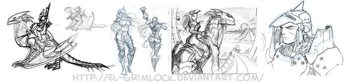 More Dragon riders concepts by el-grimlock