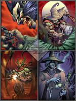 4 villains by el-grimlock