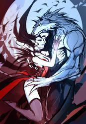 Vampiress  Werewolf by el-grimlock