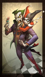 LOVE....... Joker and Harley by el-grimlock