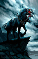 Black Unicorn by el-grimlock