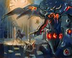 Demon Hunter sketch by el-grimlock