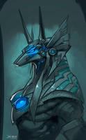 Anubis sketch by el-grimlock