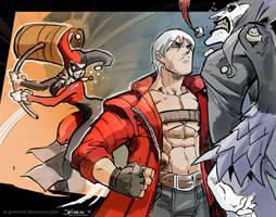 Dante meets Harley. by el-grimlock