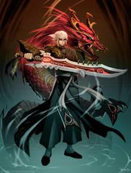 Crimson Legends : A man called Hero. by el-grimlock