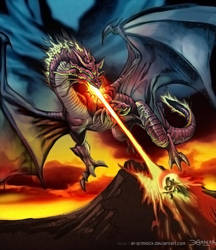 Dragon de Magma. by el-grimlock