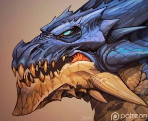 Dragon-head by el-grimlock