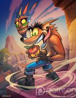 Crash bandicoot by el-grimlock