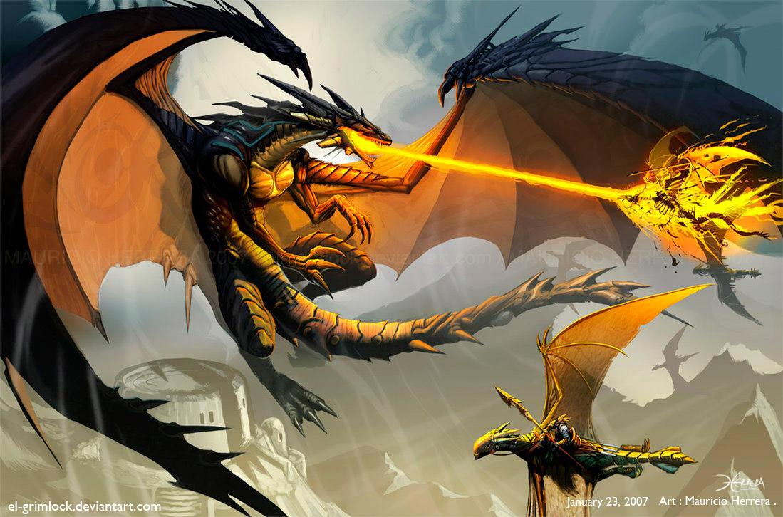 Black Dragon Attack by el-grimlock