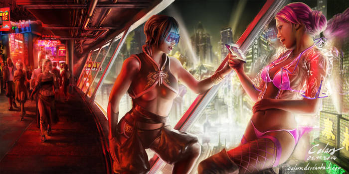 Cyberpunk - Redlight District by Celarx