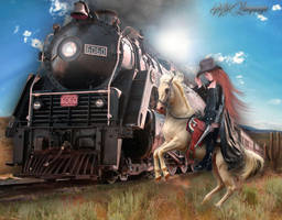 Jolly and Dolly in the Wild West by ArtLanguage