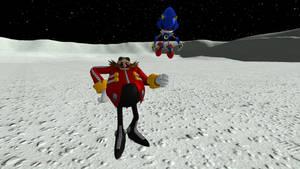 Eggman and Metal on the moon. by AftonTrash