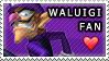Waluigi Fan Love Stamp by AftonTrash