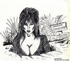 Elvira in quicksand art by kaolumbia