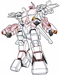 Battloid AGAC Auroran for your own color by yui1107