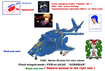 VFH-10C (Single seat) AGAC Auroran (remove gunpod) by yui1107