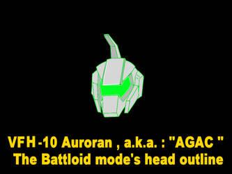 Battloid mode VFH-10 Auroran AGAC ( head parts ) 1 by yui1107