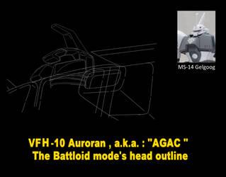 Battloid mode VFH-10 Auroran AGAC ( head parts ) 2 by yui1107