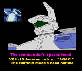 Battloid mode VFH-10 Auroran AGAC ( head parts ) 4 by yui1107