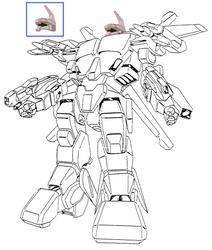 (Full body) Battloid mode VFH-10 Auroran AGAC by yui1107