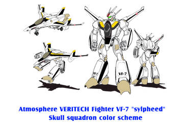 Atmosphere VERITECH VF-7 sylpheed Skull squadron by yui1107