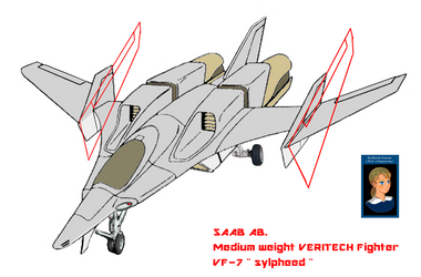 Wing folding  VERITECH Fighter VF-7N sylpheed by yui1107