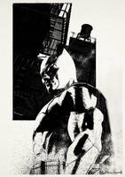'Dark knight' alley Poster art by Mike-B-Hassett
