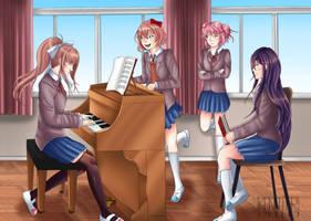 Doki Doki Literature Club by kannter