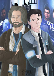 Detroit Become Human: Connor and Hank by kannter
