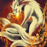 Draw Me A Pokemon: Ninetales by GoldenLionofRa