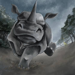 Running Rhinoceros by GoldenLionofRa