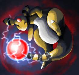 Draw Me A Pokemon: Ampharos by GoldenLionofRa