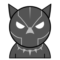 Black Panther Emoji (WIP) by Lvl-3