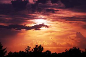 red sunset by derelictSnowWhite