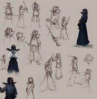 kendo sketches by Raven-Gazer