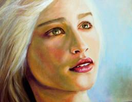 Daenerys Targaryen portrait by romonimo