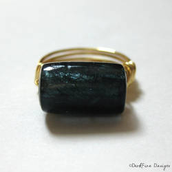 Indigo Wirework Ring by DarkFireRaven