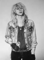 Duff McKagan pencil drawing by Laura10June