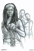 Michonne by ByronWinton