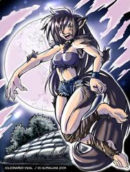Alpha Luna, the werewolf girl. by LoboLeo