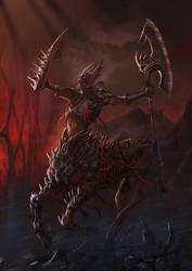 undead centaur by saadirfan