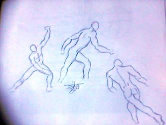 .:: Bocetos Anatomia y Movimientos ::. by jerkylink90