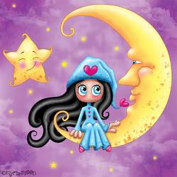 Au clair de la Lune by Myria-Moon by Myria-Moon